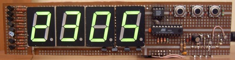 Общее описание. Часы-термометр